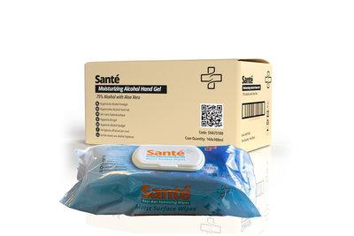 Santé Anti-bacteriële doekjes 72 stuks - Doos 24 pakken